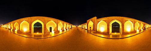 Si-o-seh Pol - 33 Arches Bridge - in Isfahan, Iran, at Night by Ramin Dehdashti