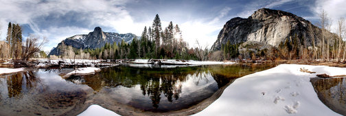 Snowy River Yosemite Valley California by Lee Casalena