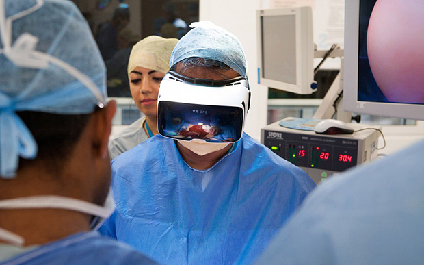 Undated handout photo issued by Medical Realities of Dr Shafi Ahmed, consultant surgeon at St Bartholomew's Hospital. A British cancer patient is set to have his operation live streamed using virtual reality technology in a world first. PRESS ASSOCIATION Photo. Issue date: Friday March 25, 2016. Viewers will be able to watch the ground-breaking surgery next month using a smartphone and virtual reality headset, making them feel as if they are in the operating theatre. See PA story HEALTH VirtualReality. Photo credit should read: Medical Realities /PA Wire NOTE TO EDITORS: This handout photo may only be used in for editorial reporting purposes for the contemporaneous illustration of events, things or the people in the image or facts mentioned in the caption. Reuse of the picture may require further permission from the copyright holder.