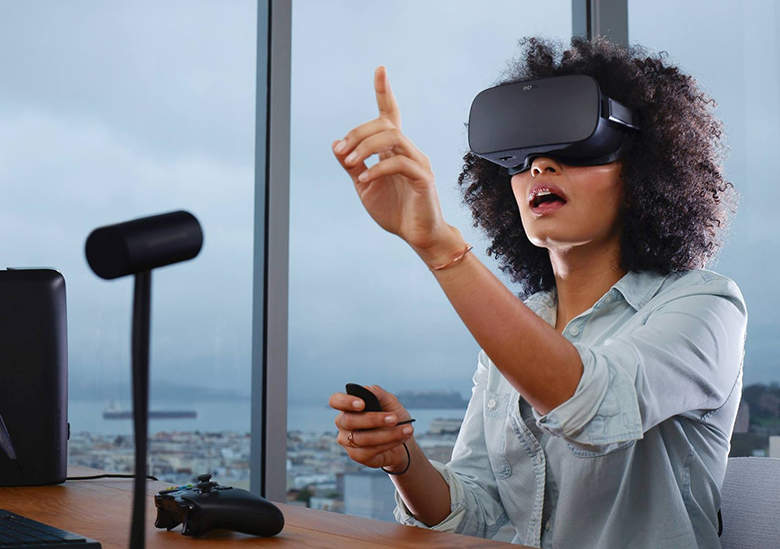 Oculus Rift, a VR headset sold by Facebook, carries an initial price of $599.